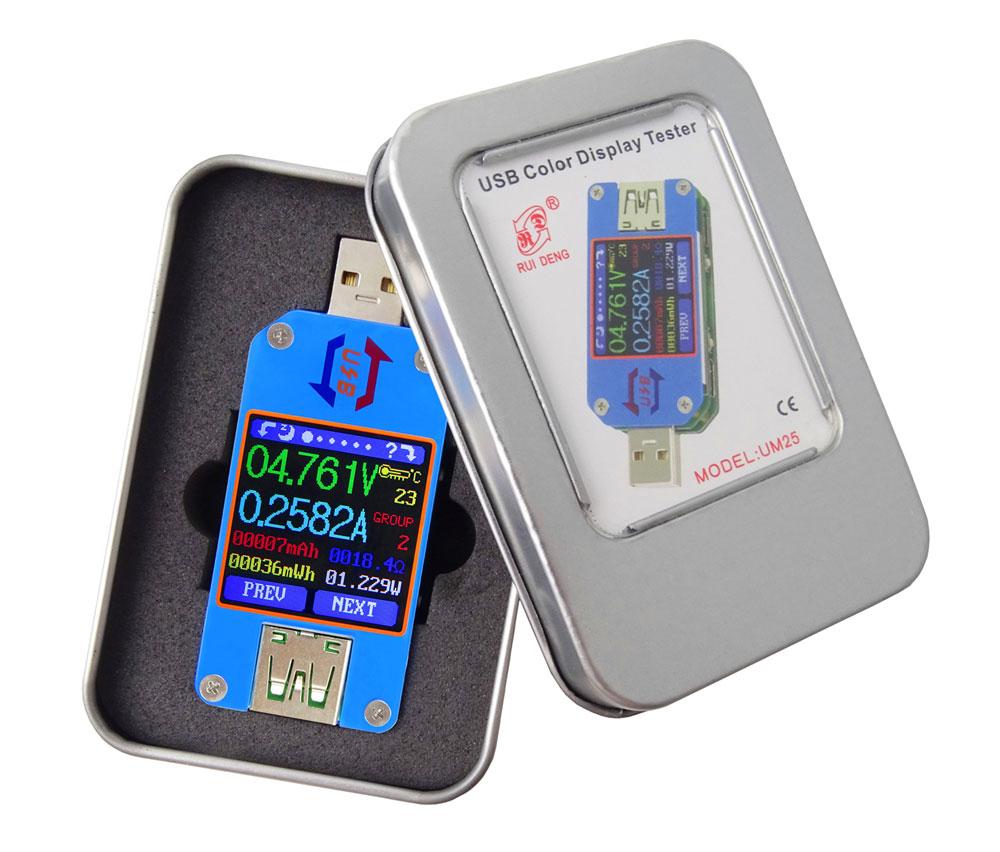 UM25 miernik portu USB, charger doctor, miernik USB, tester USB,usb c,