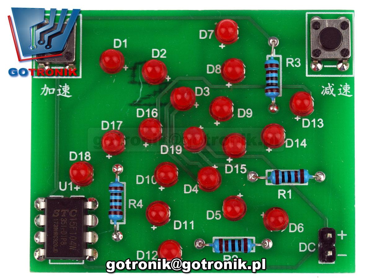 wirnik wirujące diody LED efekt świetlny - zestaw do samodzielnego montażu KIT DIY