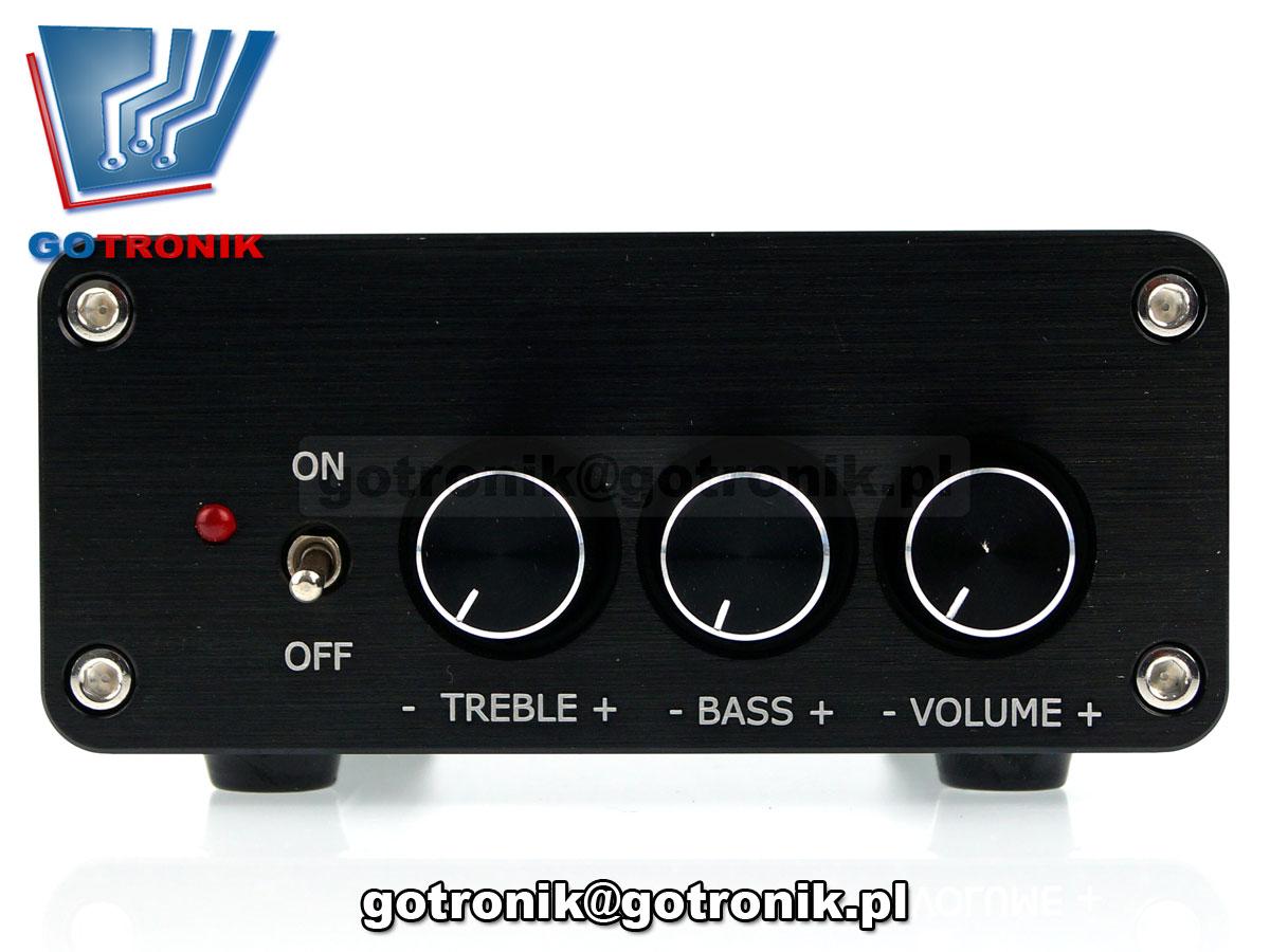 wzmacniacz mocy audio TPA3116 2x50W obudowa aluminiowa stereo odbiornik bluetoothstereo odbiornik bluetooth BTE-575