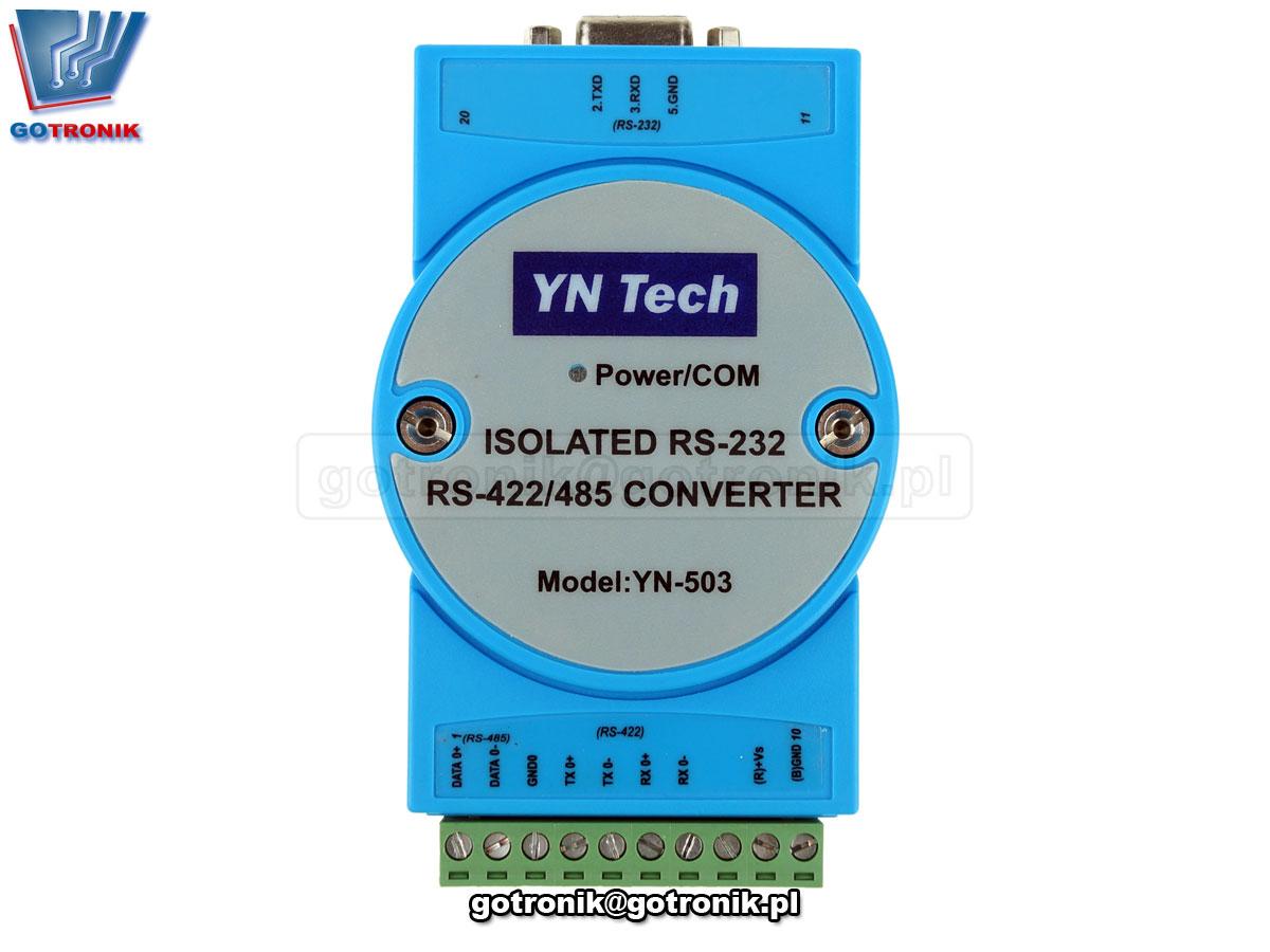 YN503 adapter, konwerter z izolacją interfejsu szeregowego rs232 na rs485 rs422 yn-503