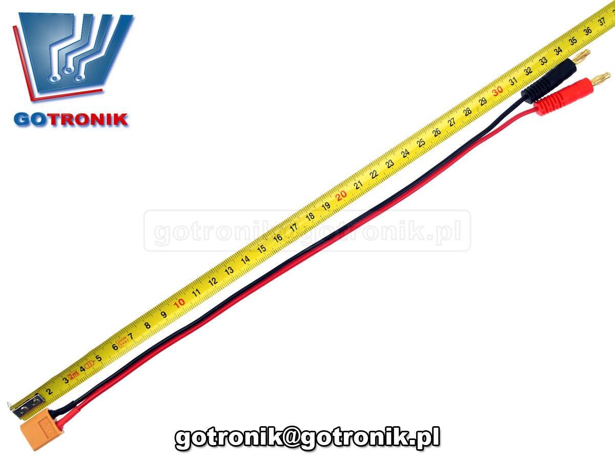 XT60 XT-60 przewód kabel połączeniowy wtyk banan 4mm