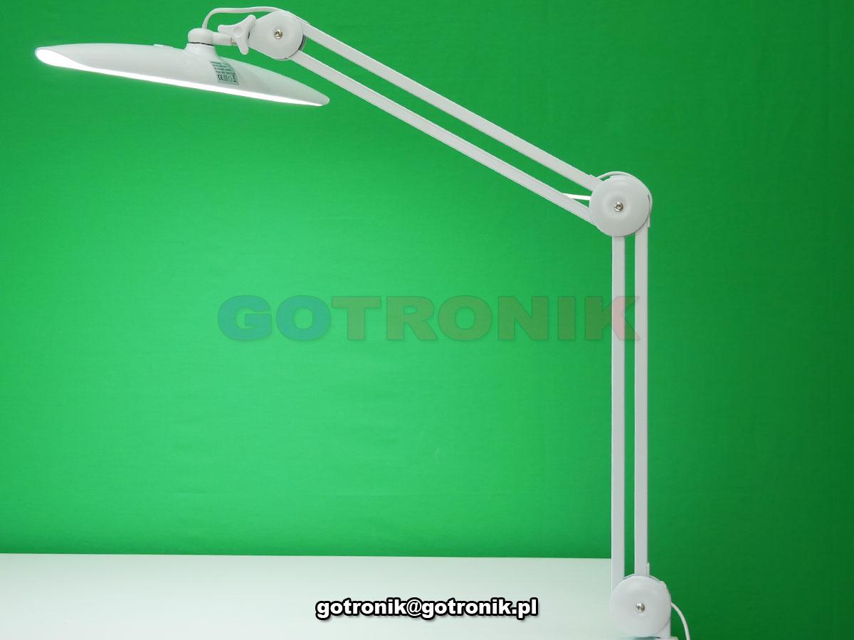Lampa warsztatowa na ramieniu, Lampa warsztatowa stołowa 182 LED, Lampa warsztatowa biurkowa z funkcją ściemniacza, 9501LED-w, LAM-052