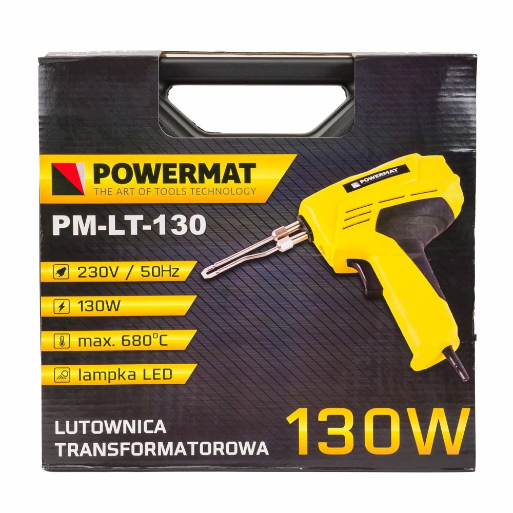 Lutownica transformatorowa 130W z LED + walizka Powermat model PM-LT-130