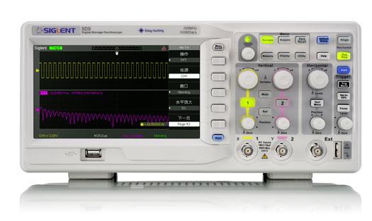 SDS1052DL+ oscyloskop cyfrowy 2 x 50MHz produkcji Siglent