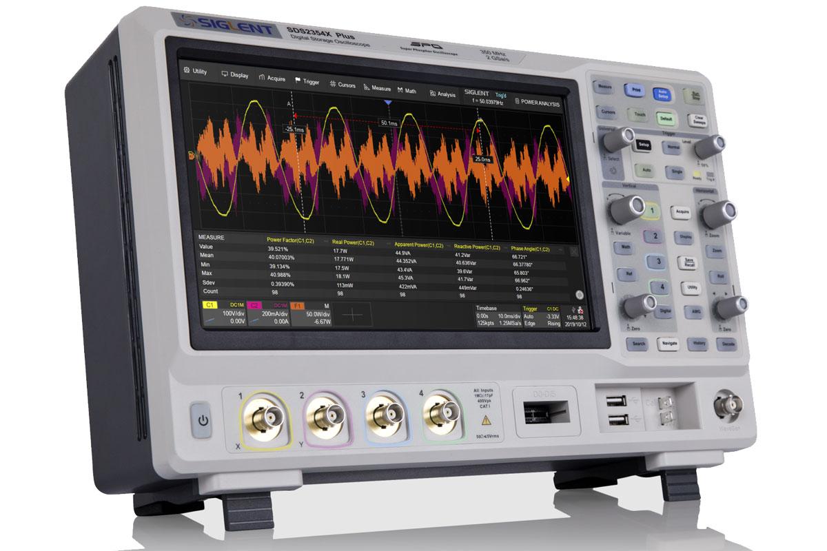 SDS2204X Plus oscyloskop cyfrowy 4x200MHz SIGLENT