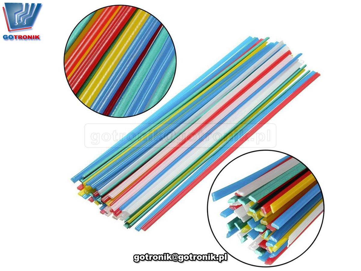 Zestaw 19 sztuk różnych spoiw do spawania plastiku 50cm