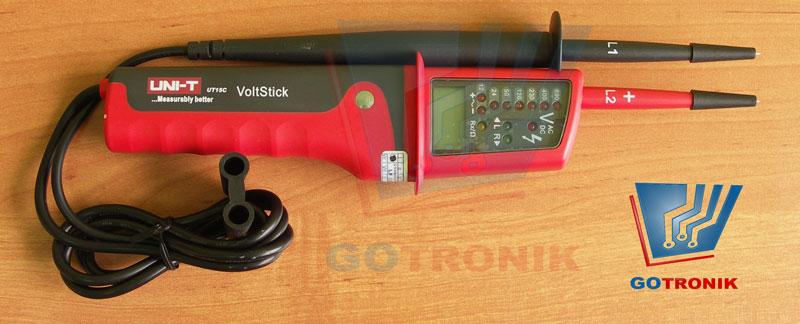 UT15C dwubiegunowy wskaźnik napięcia LED LCD woltomerz AC DC 12V 24V 690V Unit MIE0116