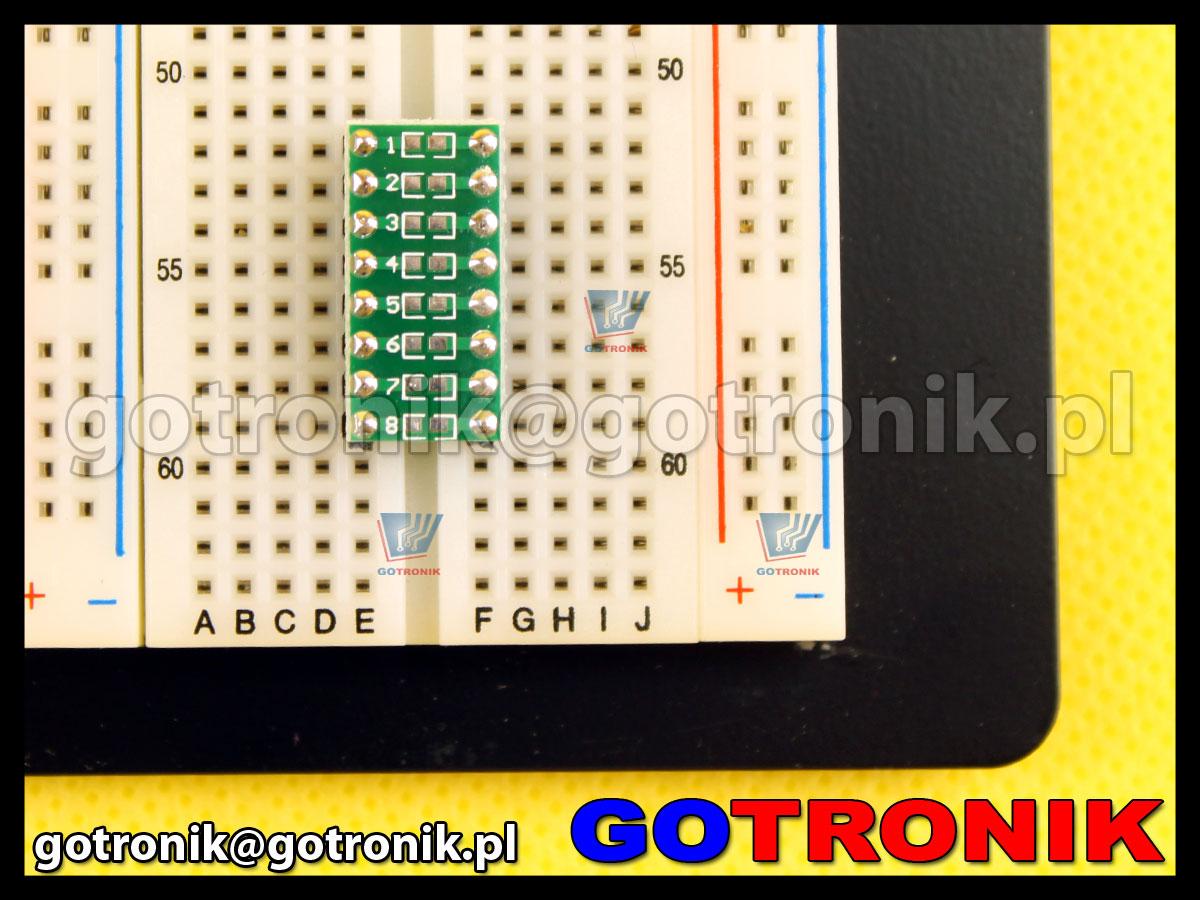 adapter SMD 0603 do płytek stykowych na rezystory, kondensatory