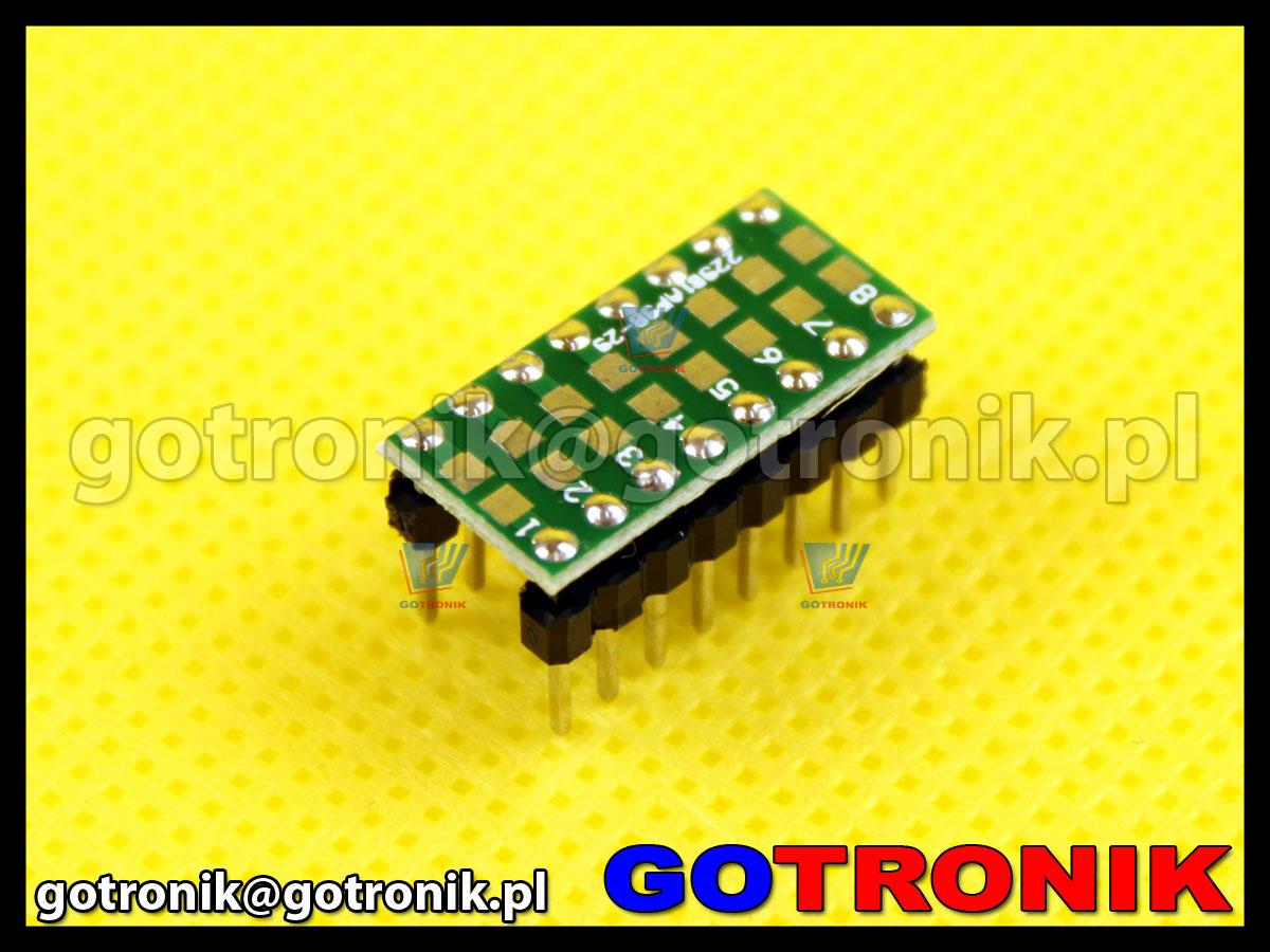 adapter SMD 0805 do płytek stykowych na rezystory, kondensatory
