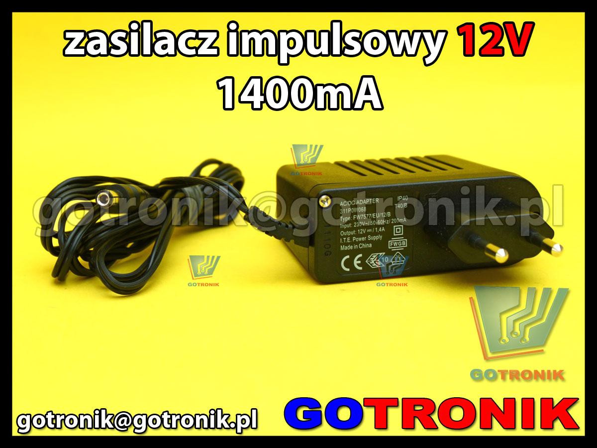 zasilacz 12V 1400mA 1,4A sieciowy impulsowy 311P0W068