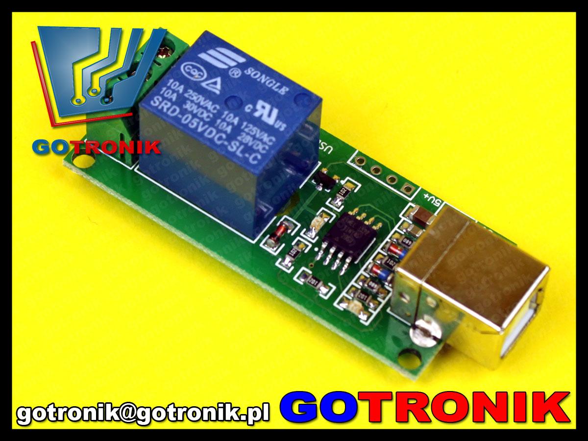 karta przekaźników sterowanych USB
