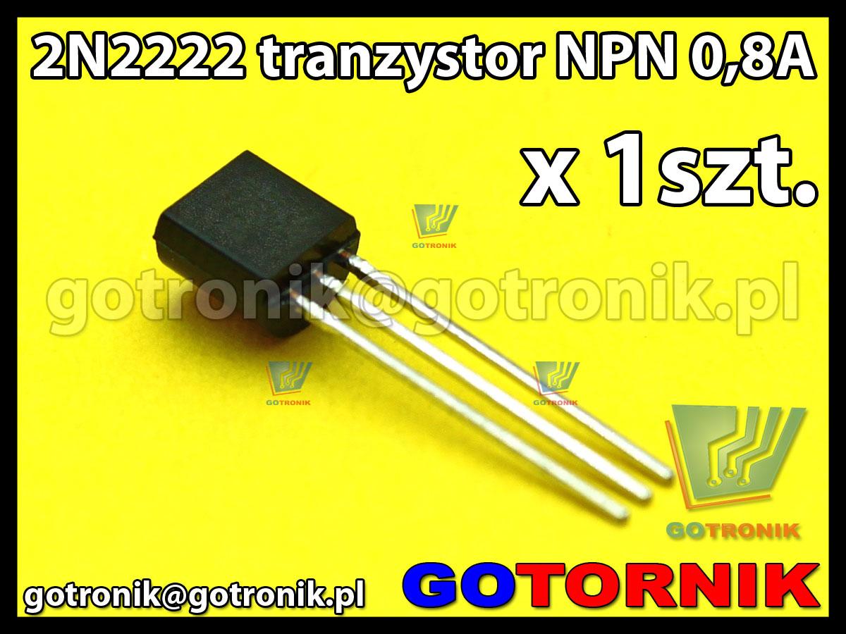 2N2222 - tranzystor NPN 0.8A - TO92