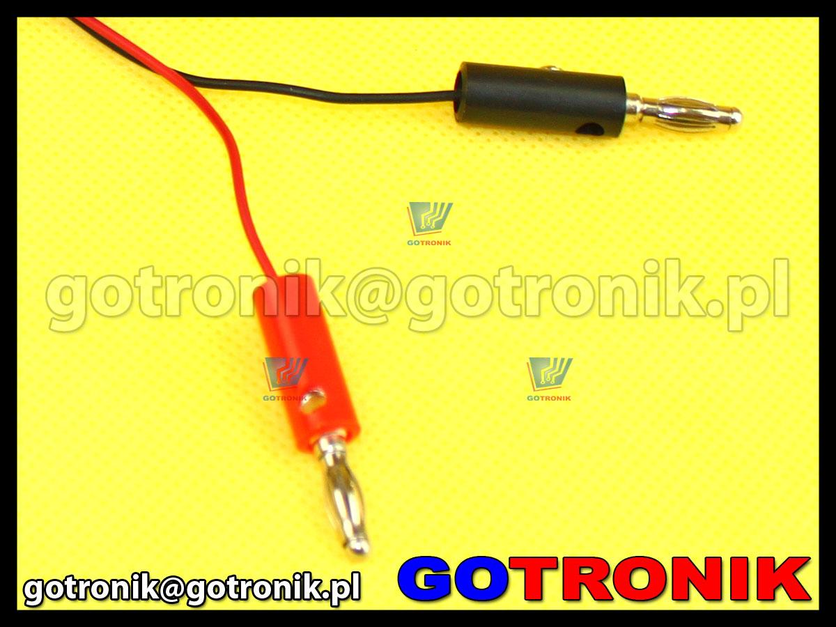 Przewód 2x wtyk banan na wtyk DC 2.1/5.5