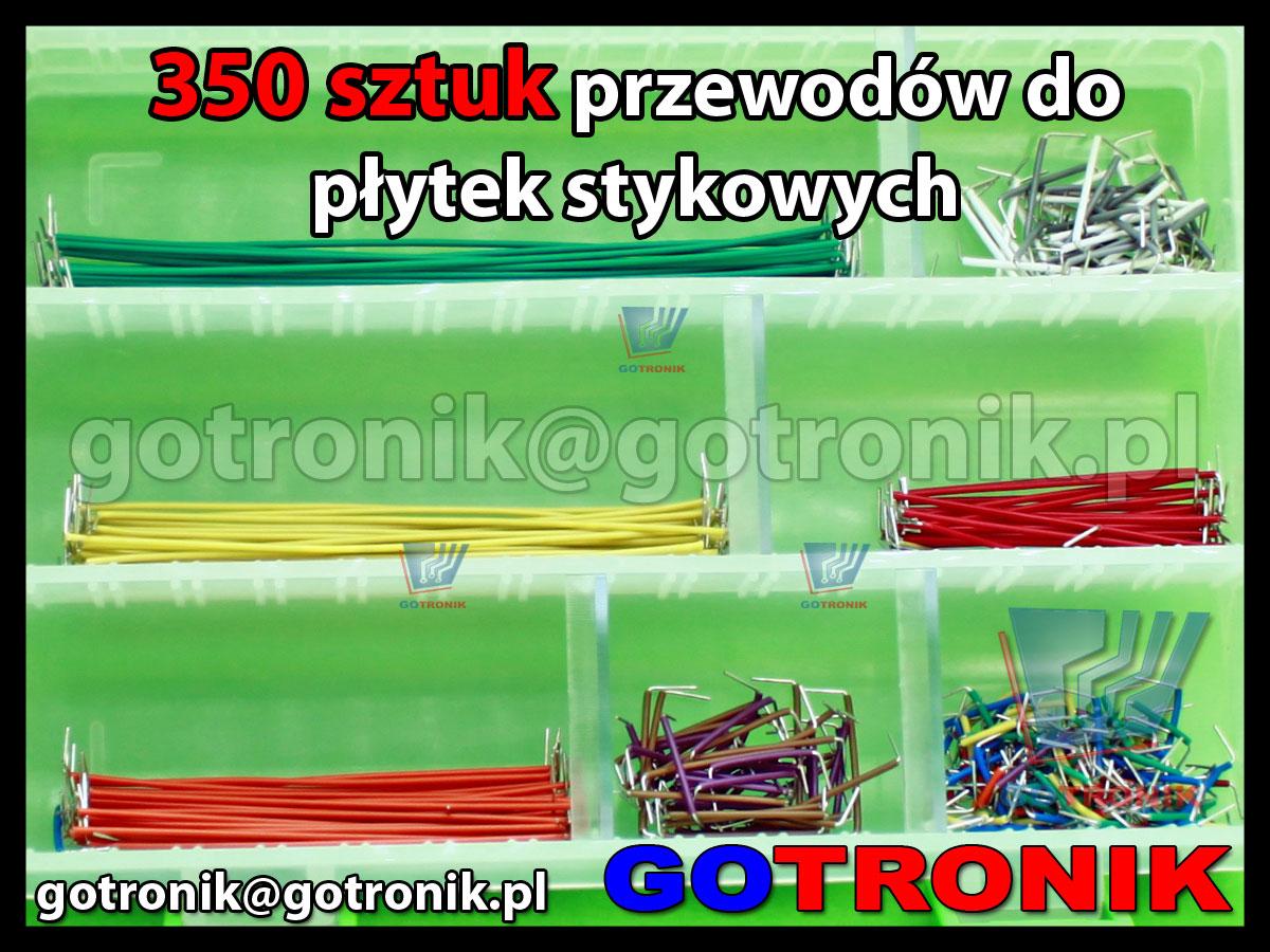 350 sztuk zestaw przewodów połączeniowych zworek jumperów do płytek stykowych