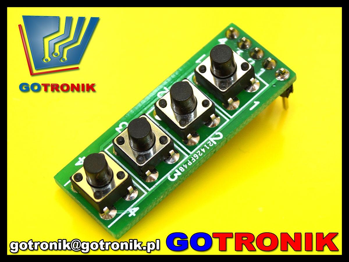 4 przyciski micro-switch do arduino, płytki stykowej, uniwersalnej