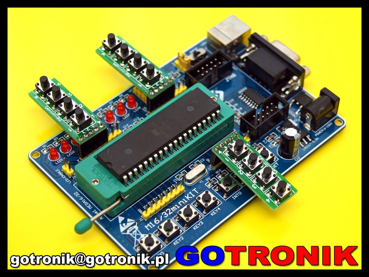 4 przyciski micro-switch na płytce drukowanej pcb
