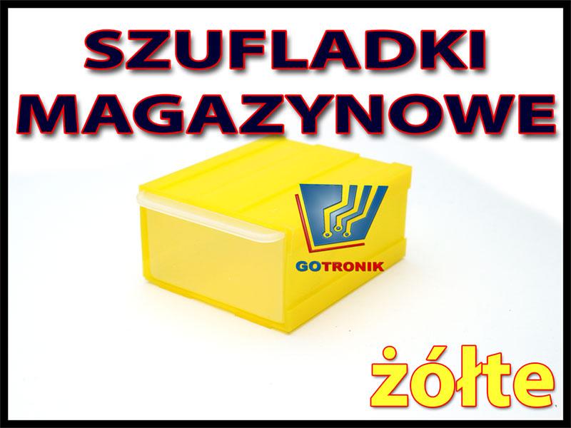 żółta szufladka warsztatowa magazynowa