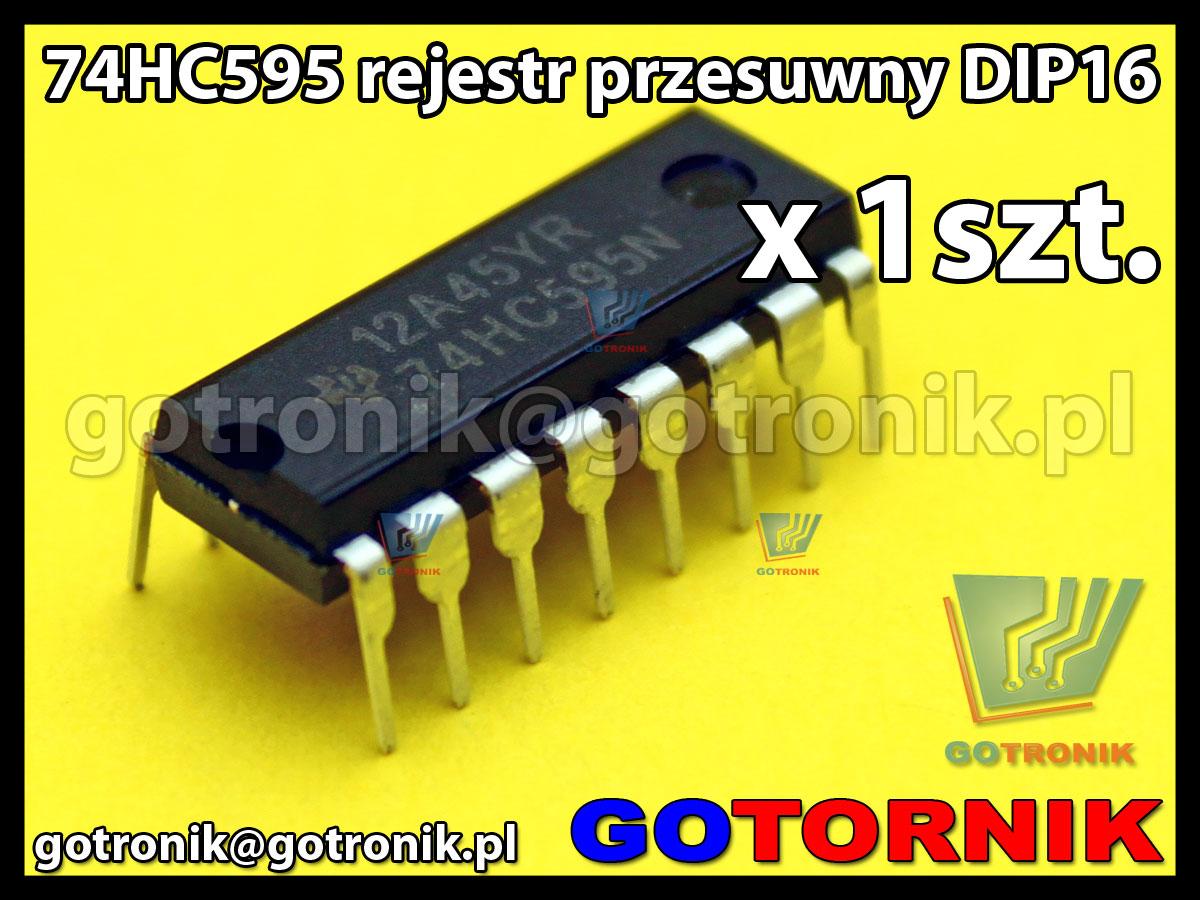 74HC595 - rejestr przesuwny DIP16
