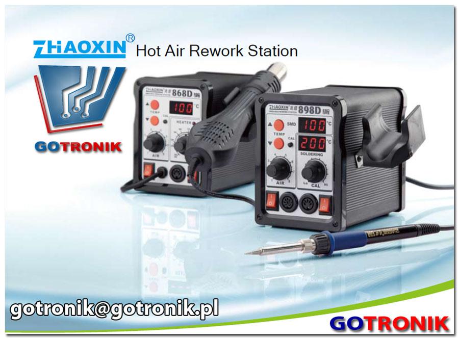 898D 868D Zhaoxin cyfrowe podwójne stacje lutownicze kolbowe + gorące powietrze HOT-AIR