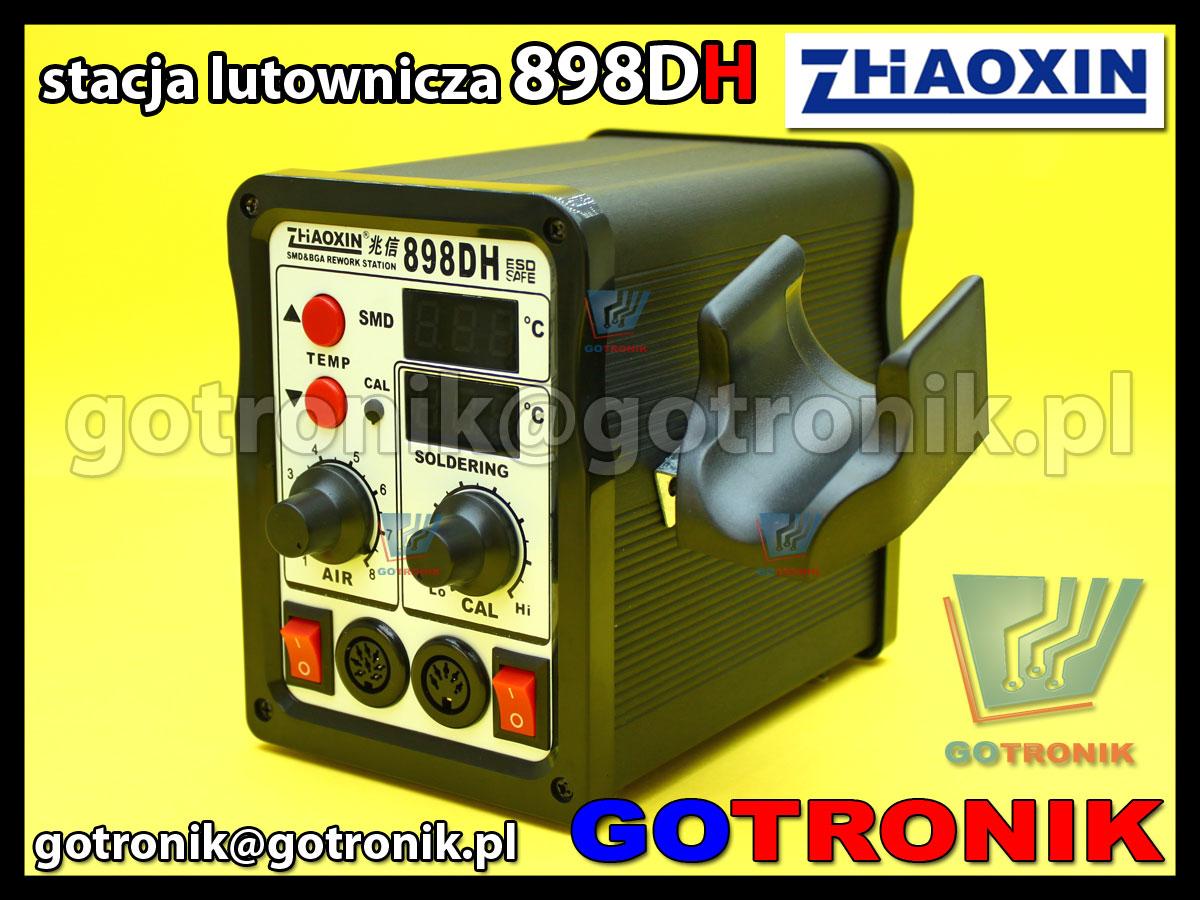 Stacja lutownicza 898DH Zaoxin 2w1 gorące powietrze HOT-AIR + cyfrowa stacja lutownicza ESD 75W