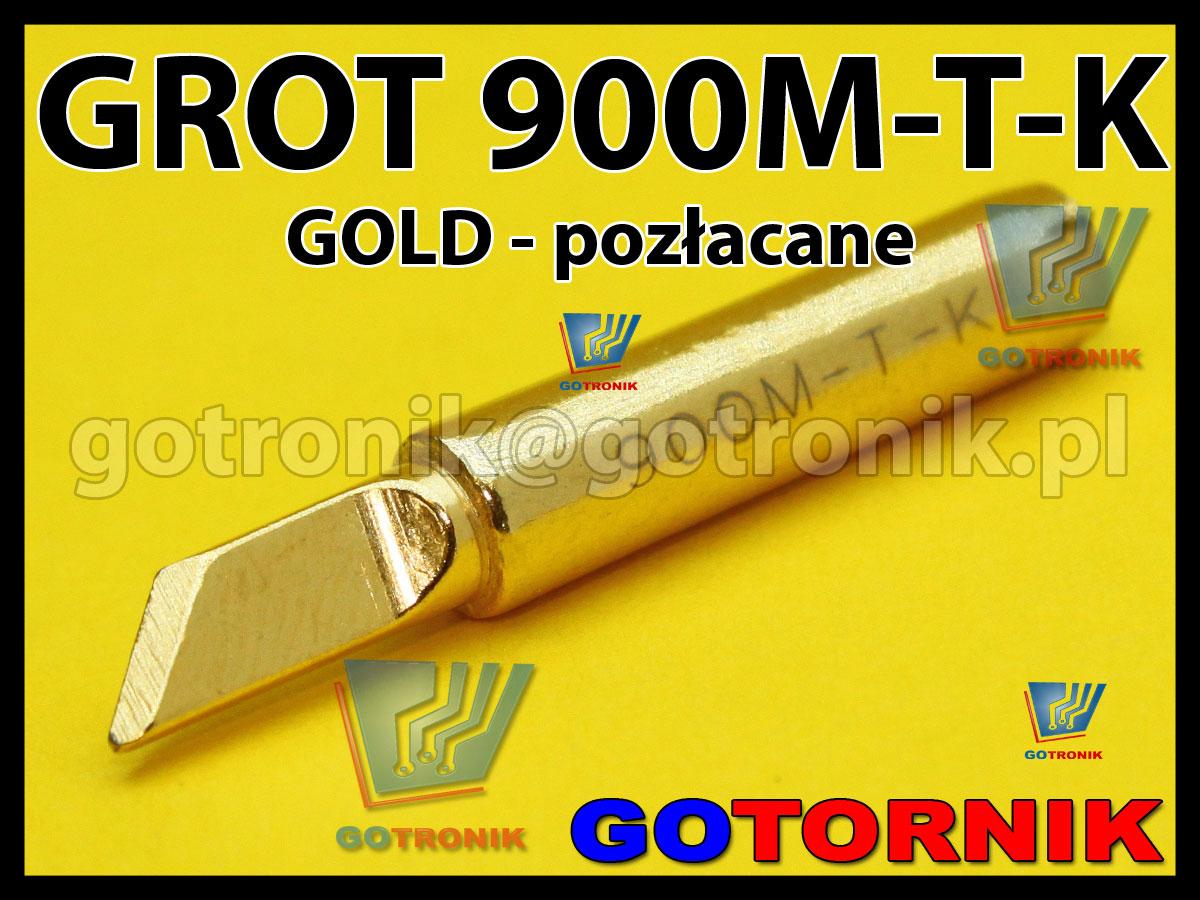 Grot 900M-T-K ścięty GOLD pozłacany Zhaoxin 936a 936d 852D 898d 868 d Aoyue PT WEP Yihua