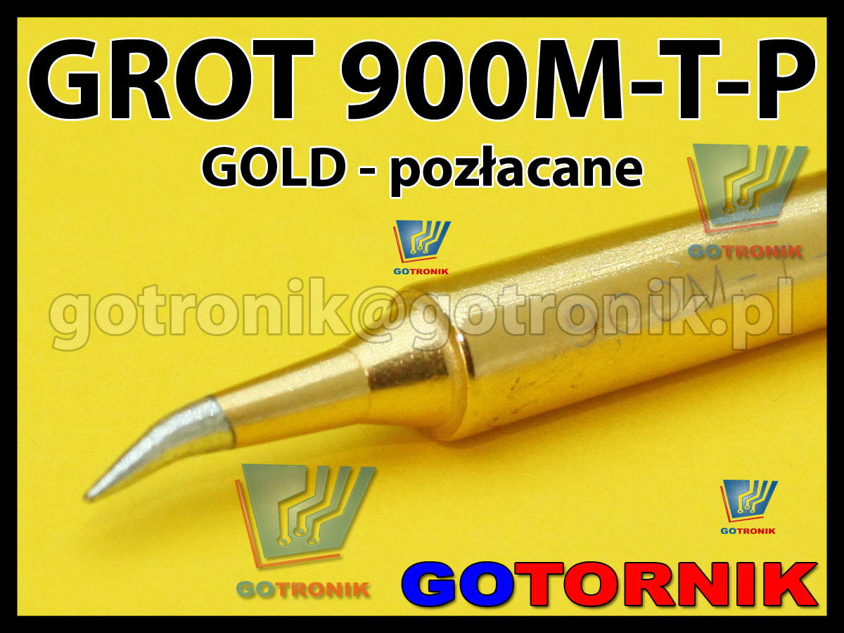 Pozłacany grot GOLD 900M-T-K do stacji Zhaoxin Aoyue PT Wep Yihua Zaoxin 936 825d 898d 868d