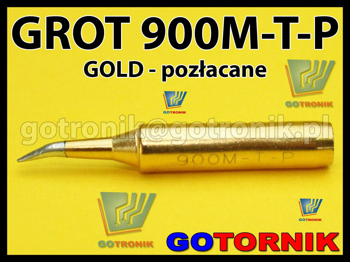 Grot 900M-T-P zakrzywiony stożek GOLD pozłacany Zhaoxin 936a 936d 852D 898d 868 d Aoyue PT WEP Yihua