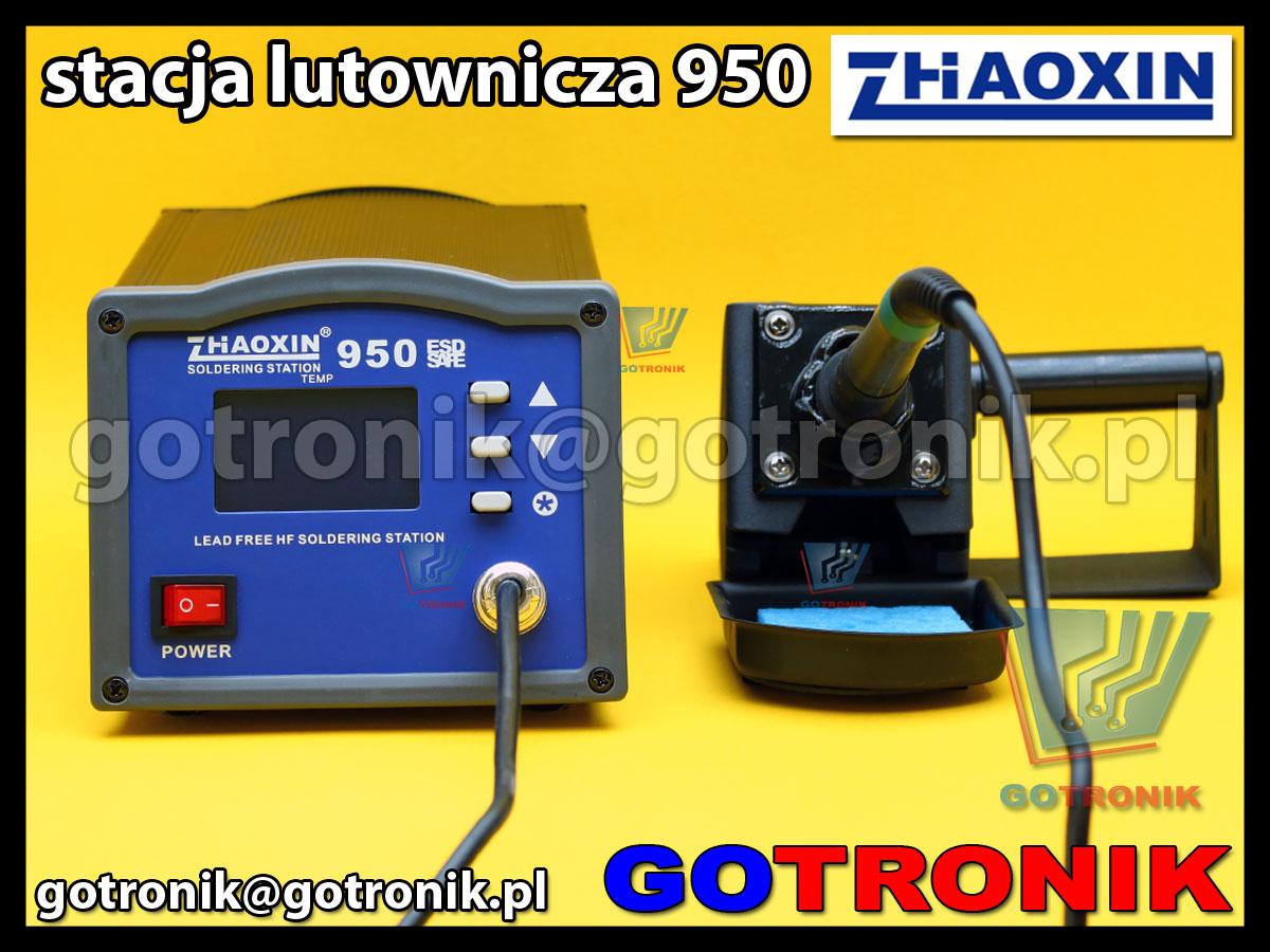 Stacja lutownicza 950 Zhaoxin 150W HF lead free soldering station 400kHz zasilana wysoką częstotliwością.
