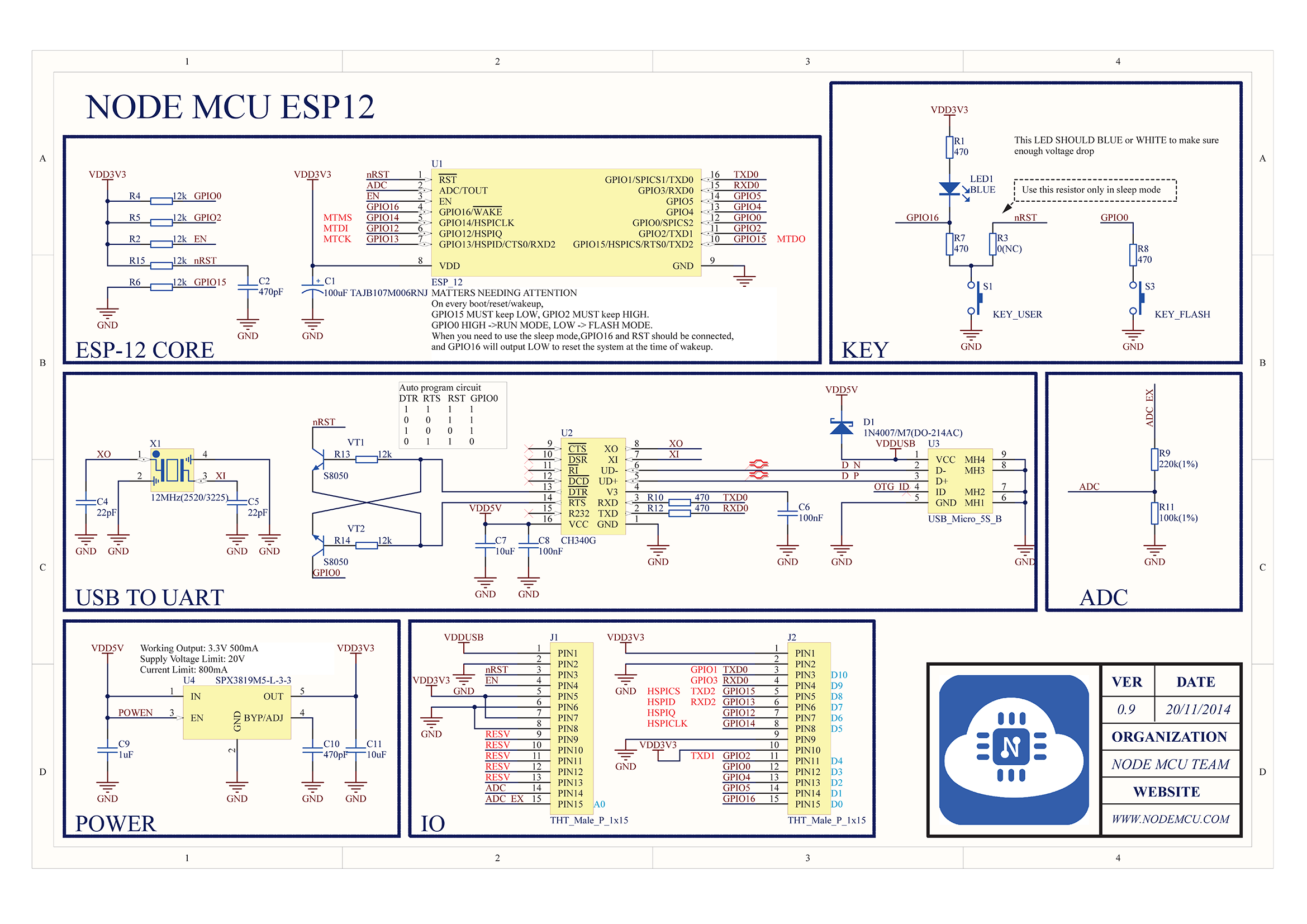 V3 4M bytes (32Mbits) FLASH NodeMcu Lua WIFI Networking development board Based ESP8266 with firmware