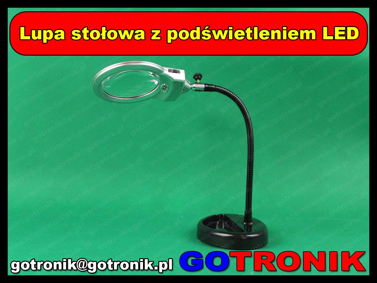 Lupa stołowa z podświetleniem LED