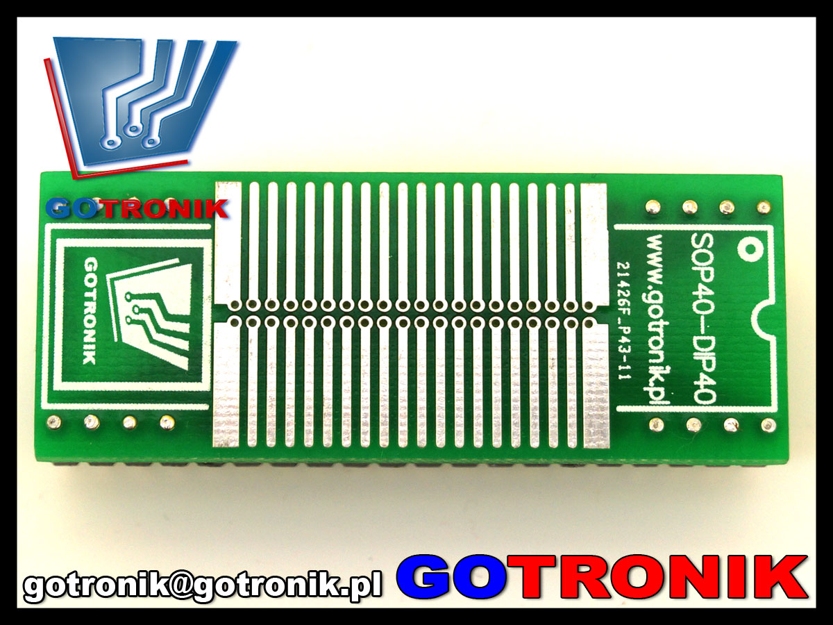 A-074 adapter przejściówka SOP44 na DIP40 SOP SO SOJ SOIC DIP 40pin 1,27mm 1.27mm 50mils A074