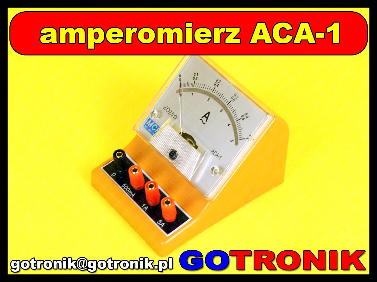 ACA-1 amperomierz analogowy do pomiaru prądu zmiennego AC 0 ~ 5A MCP