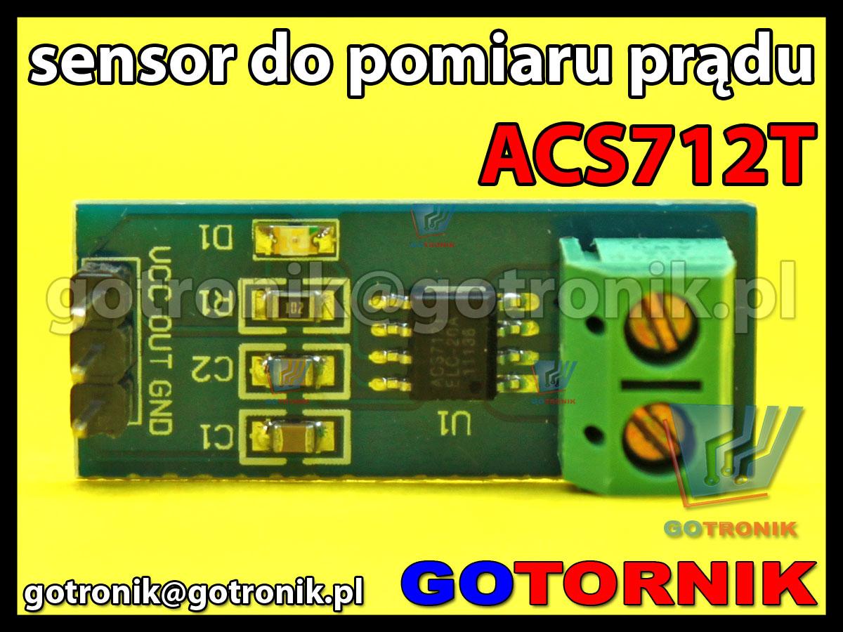 Sensor do pomiaru prądu ACS712T czujniki pola magnetycznego