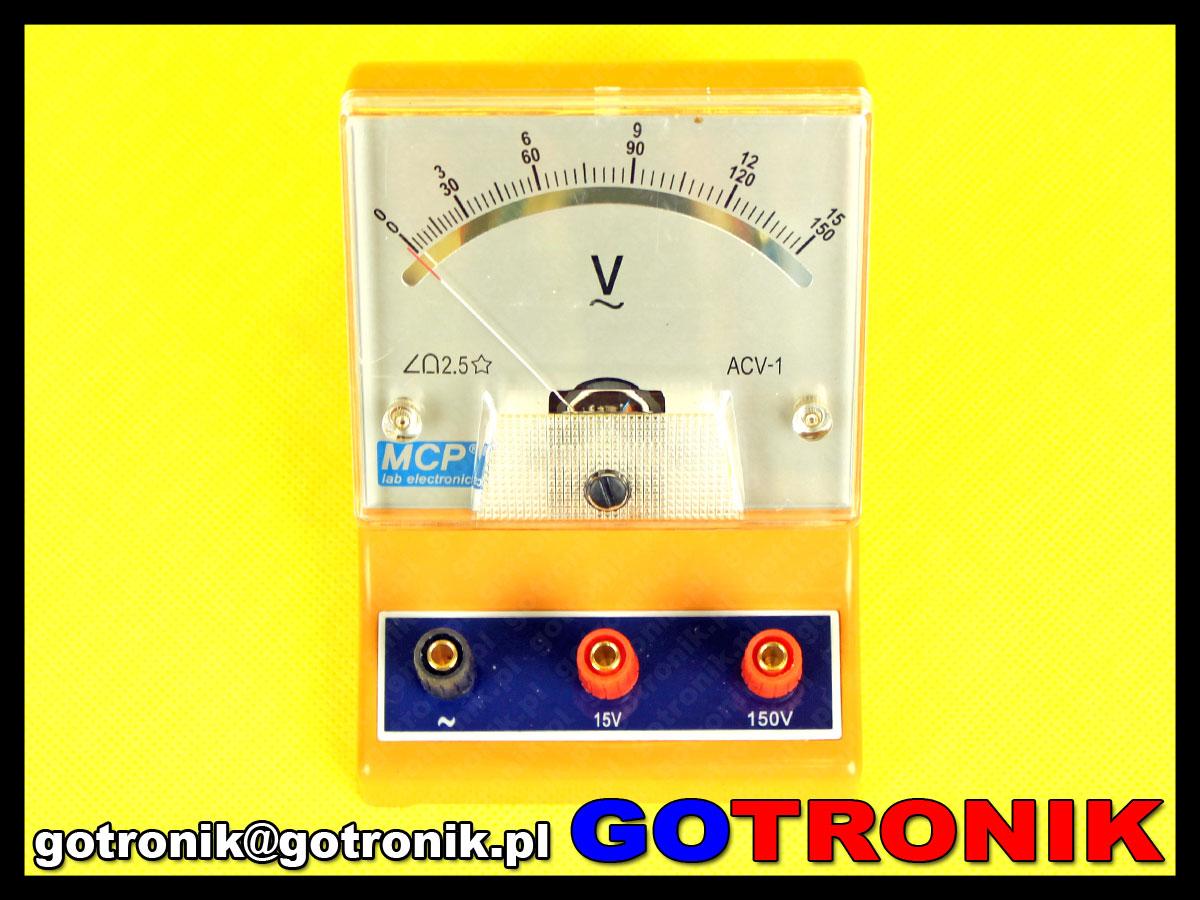 ACV-1 woltomierz analogowy do pomiaru napięcia zmiennego AC 0 ~ 15 V AC 0 ~ 150V AC MCP MCP