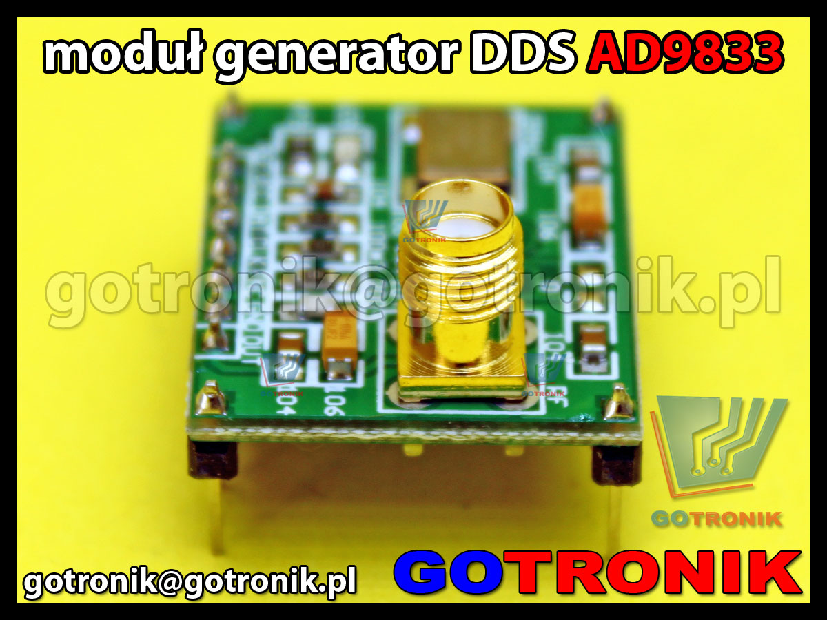 Moduł generatora sygnałowego AD9833 DDS 0,1Hz-25MHz