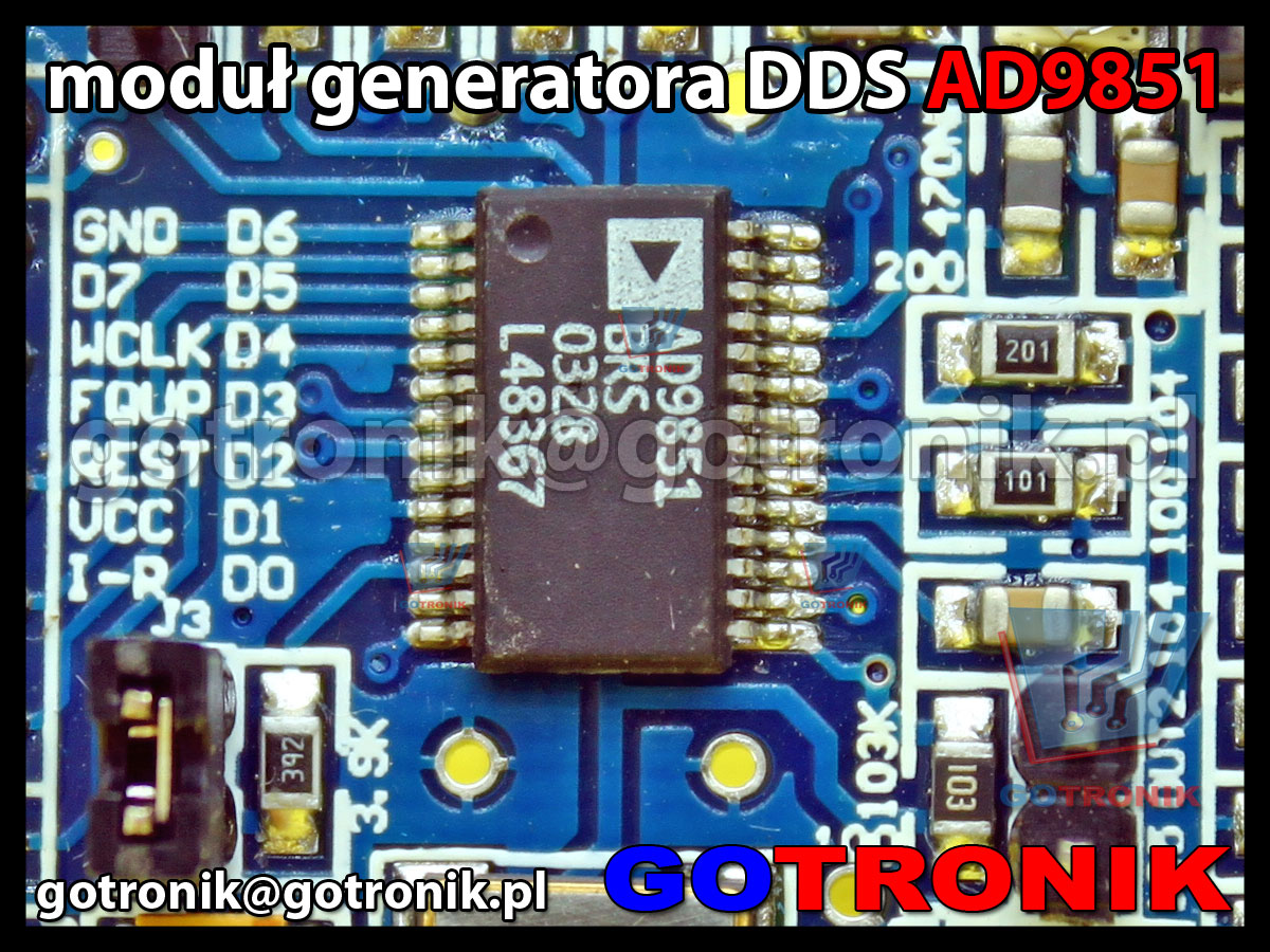 ad9851 dds generator 70mhz analog device