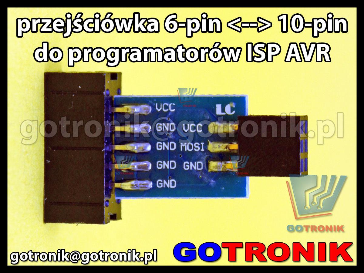 Adapter przejściówka 6pin <-> 10pin kanda do programatorów ISP AVR