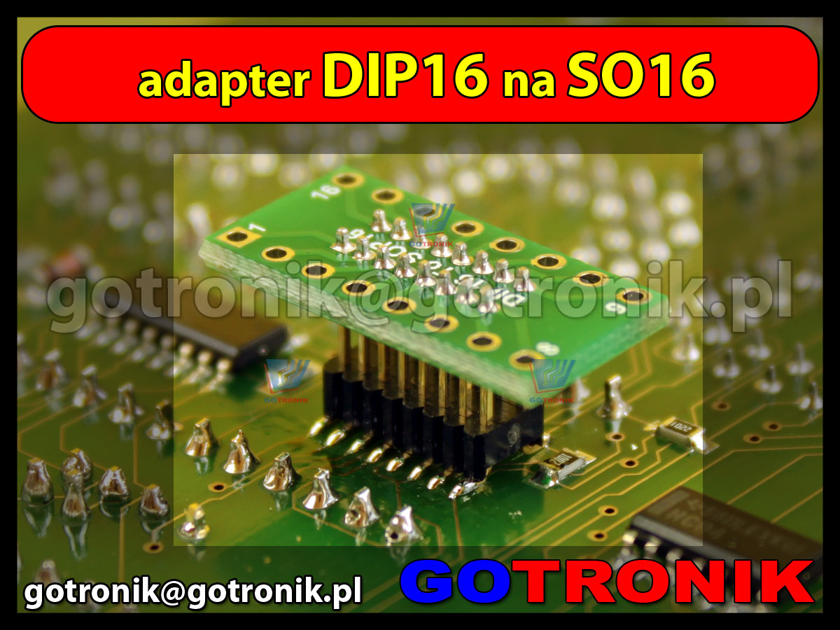 adapter DIP16 to SO16 1,27mm smd