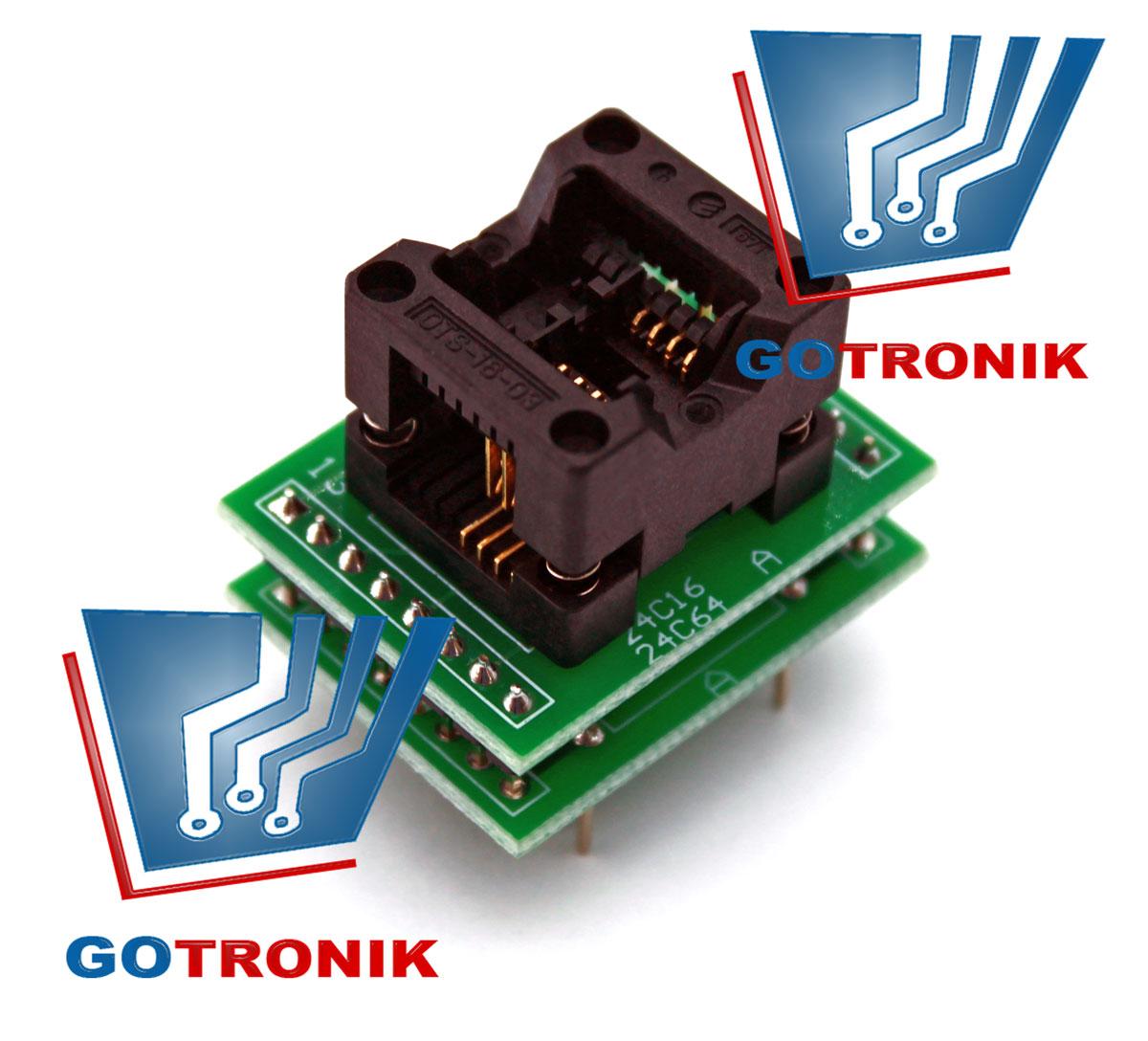 Adapter SO8 na DIP16 do programatorów uniwersalnych