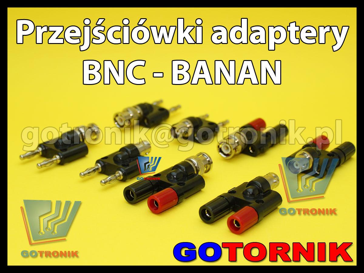 Zestaw adapterów przejściówek BNC banan