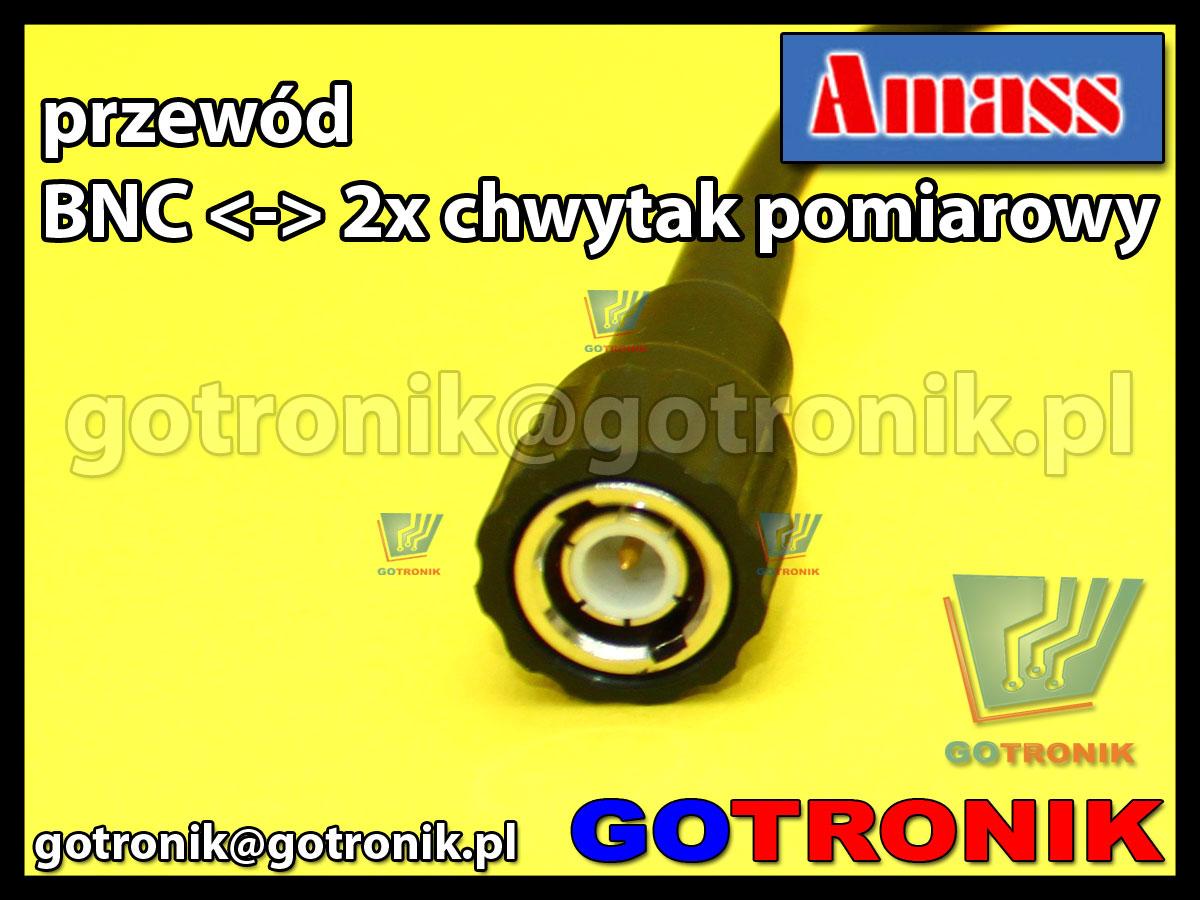 Przewód wtyk BNC na 2x chwytak pomiarowy Amass 21.040