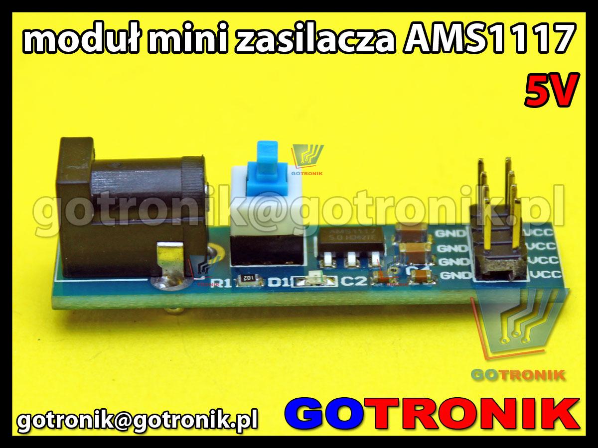 Moduł zasilania AMS1117-5V z gniazdem DC