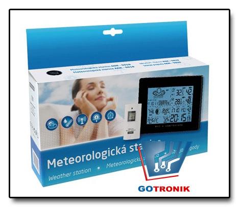 Stacja meteorologiczna - pogodowa AOK-5019 czarna