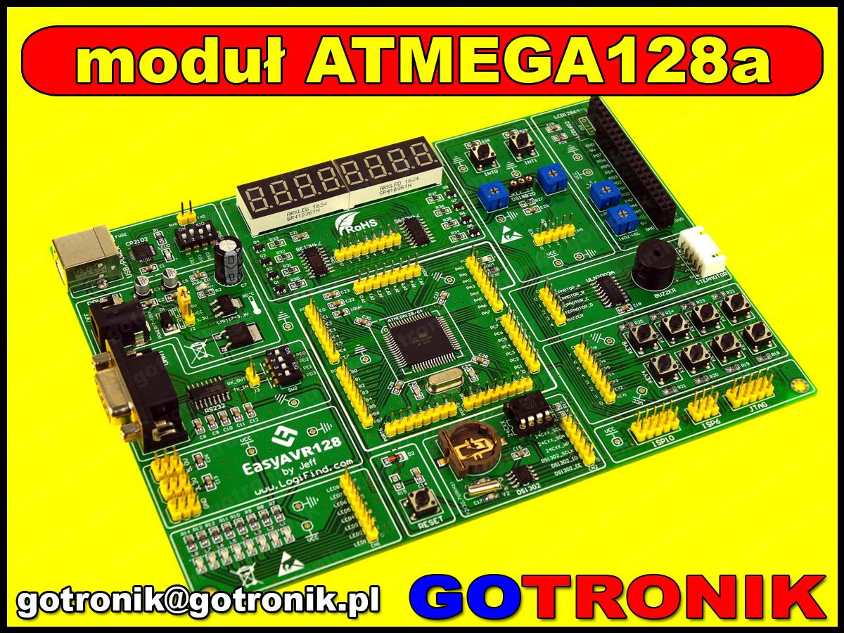 Moduł uruchomieniowo - rozwojowy easyAVR128 Atmega128A AVR atmel