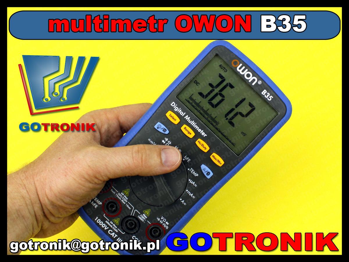 B35 miernik cyfrowy OWON multimetr cyfrowy Bluetooth