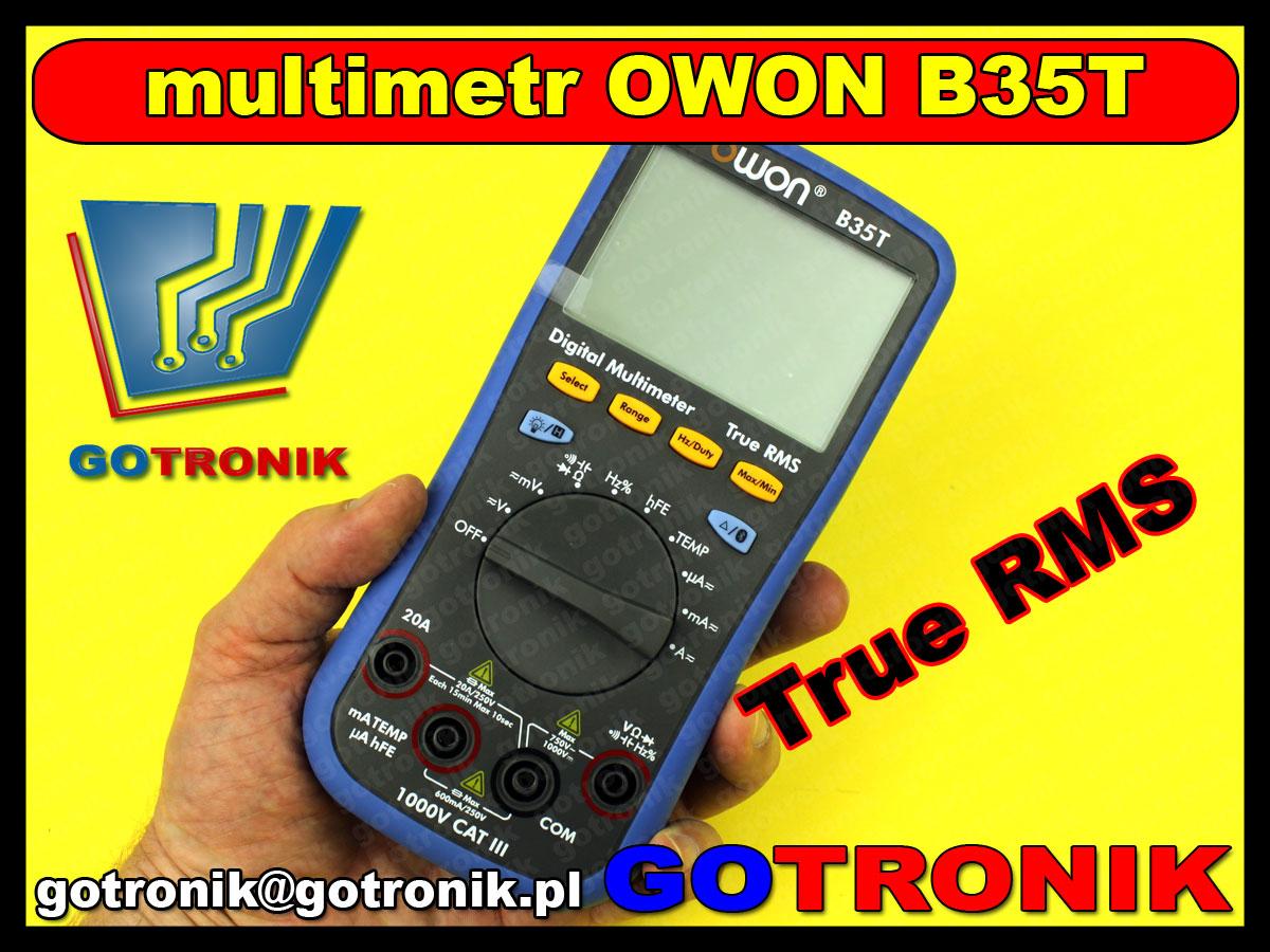 B35T miernik cyfrowy OWON multimetr cyfrowy Bluetooth TrueRMS wartość skuteczna