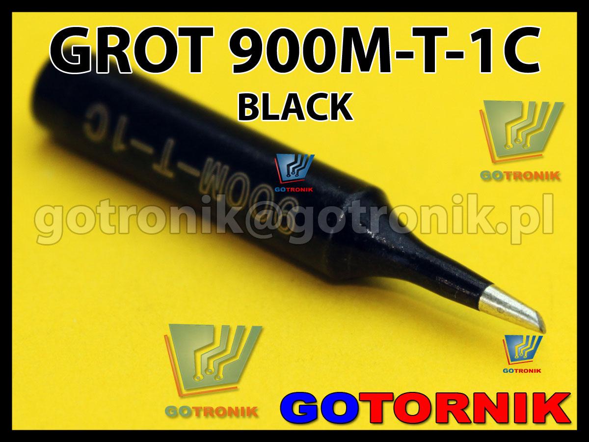 Grot 900M-T-1C ścięty 1,0mm do lutowania elementów SMD BLACK Zhaoxin 936a 936d 852D 898d 868 d Aoyue PT WEP Yihua