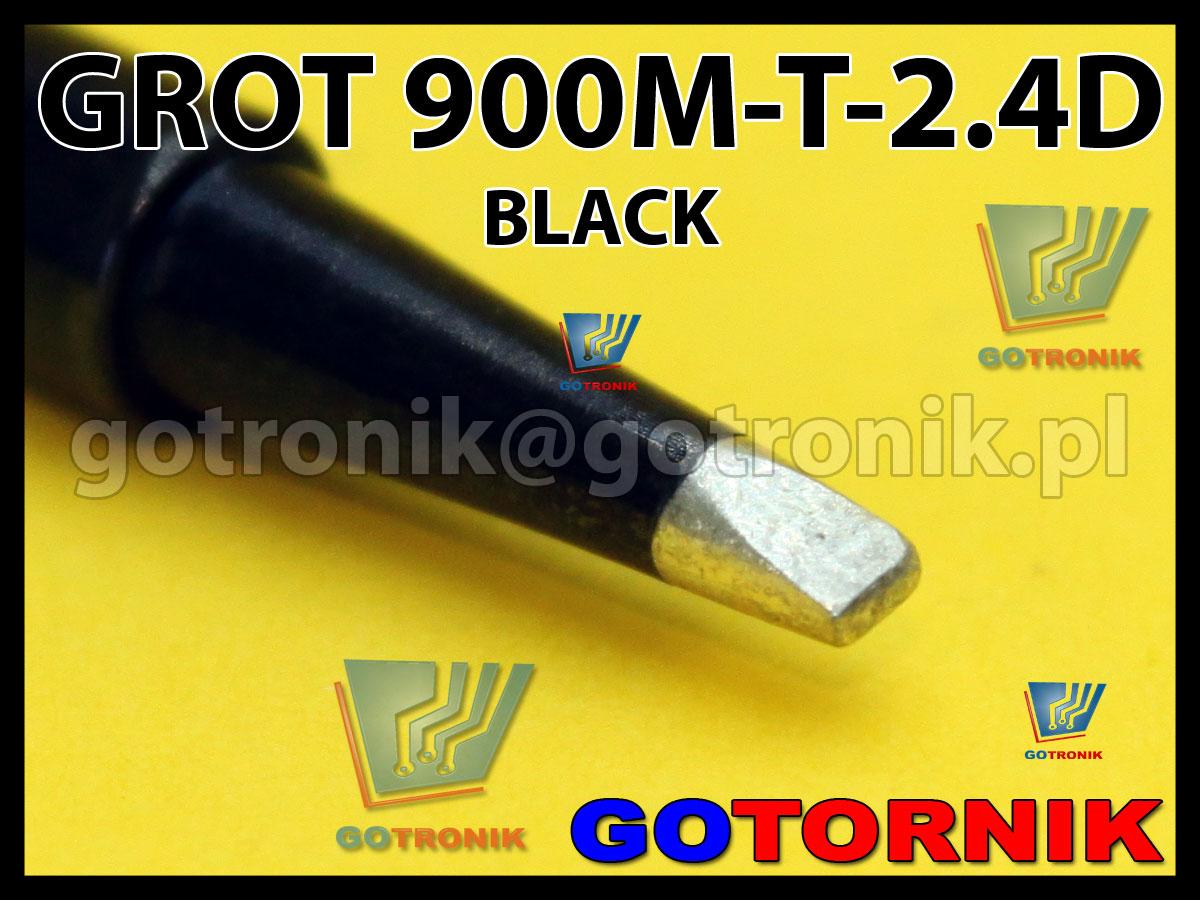 Grot 900M-T-2.4D płaski 2,4mm dłuto BLACK Zhaoxin 936a 936d 852D 898d 868 d Aoyue PT WEP Yihua
