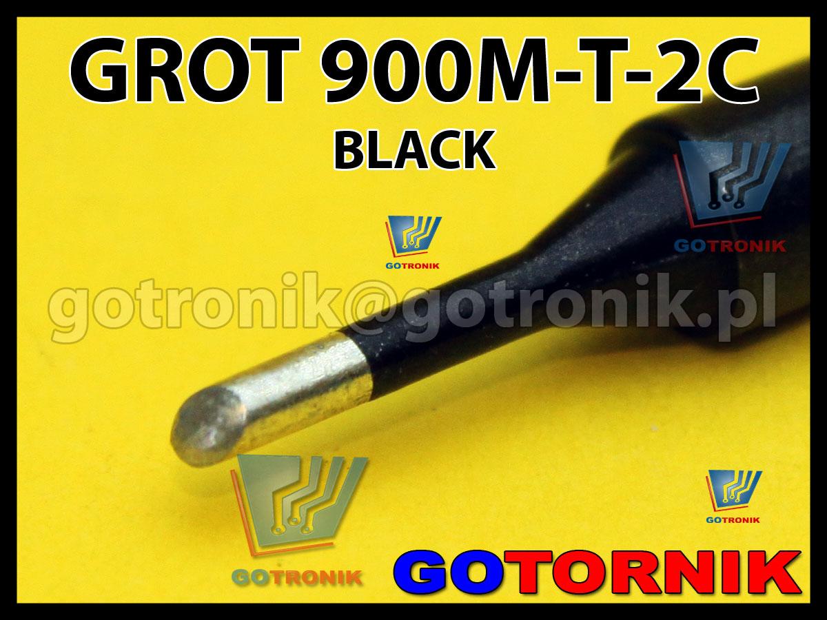 Grot 900M-T-2C ścięty 2,0mm do lutowania elementów SMD BLACK Zhaoxin 936a 936d 852D 898d 868 d Aoyue PT WEP Yihua