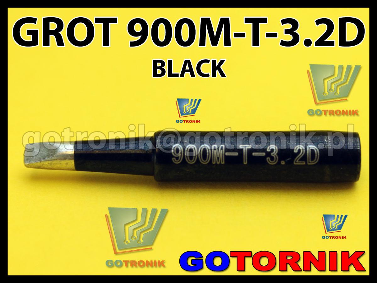 Grot 900M-T-3.2D płaski 3,2mm dłuto BLACK do SMD Zhaoxin 936a 936d 852D 898d 868 d Aoyue PT WEP Yihua